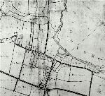 Russell estate map showing the village in 1779 [R1-75]